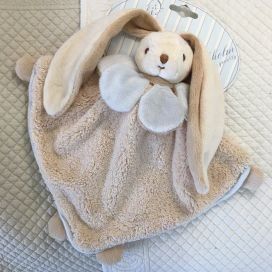 "Barbara Bukowski -Rabbit ""Viggo et Maria"" blue and beige Baby Rug"
