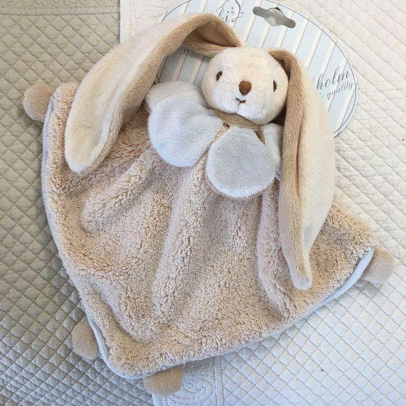 "Barbara Bukowski -Rabbit ""Viggo et Maria"" blue and beige Baby Rug"