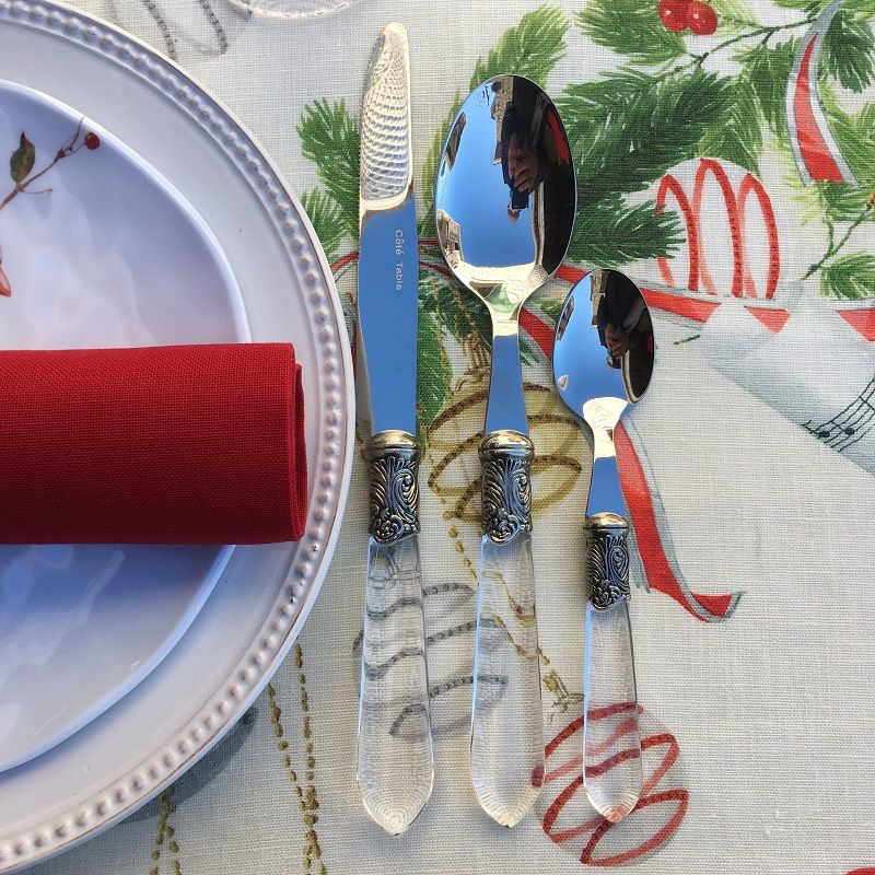 """Cutlery Set (48 pieces) """"Baroque"""" clear, from """"Côté Table"""""""