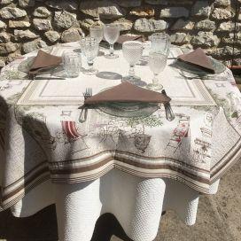 """Nappe rectangulaire Jacquard oliviers et Buis """"Gordes"""" Marat d'Avignon"""