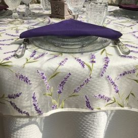 "Square  organza tablecloth ""Lavandes"""