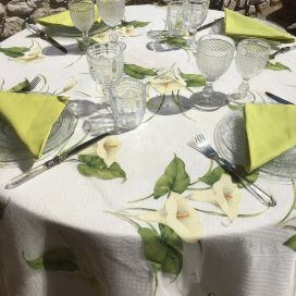 "Rectangular organza tablecloth ""Arum"""