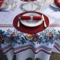 """Set de table rond en Boutis """"Mirabelle"""" rouge, Sud-Etoffe"""