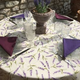 "Voile de table en Organza ""Lavandes"""