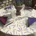 "rectangular organza tablecloth ""Lavandes"""