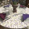 """Serviette de table en coton uni  """"Lilas"""""""