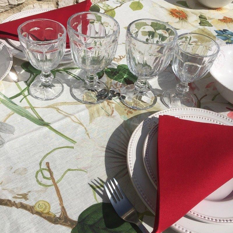 """Pklain cotton napkins """"Coucke"""" red Hermés"""
