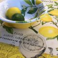 "Michel Design Works - ""LEMON BASIL"" Melanine medium bowl"