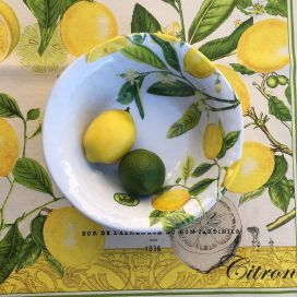 "Michel Design Works - ""LEMON BASIL"" Melanine medium bowl"