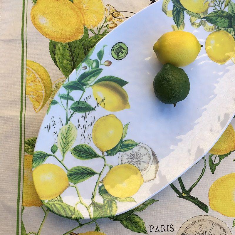 Michel Design Works - Lemon Basil melanine ovale platter