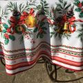 "Christmas round tablecloth in cotton ""Sylvestre"""