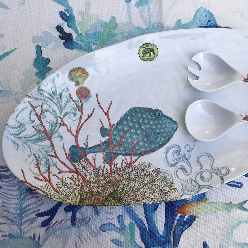 """Michel Design Works - """"SEE LIFE"""" Melanine ovale platter"""