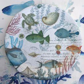 """Michel Design Works - """"SEE LIFE"""" Melanine large round platter"""