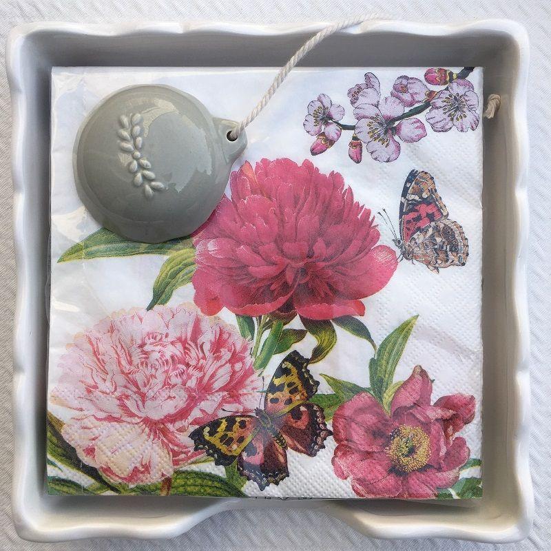"""Serviettes en papier """"Fleurs du Jardin"""""""