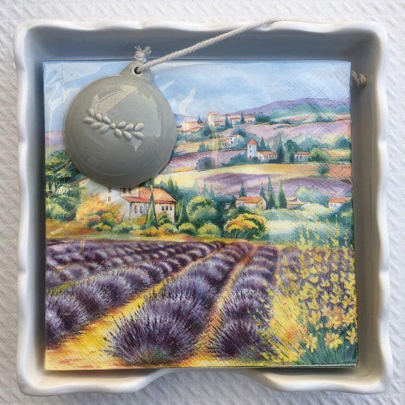 """Serviettes en papier Lavender fields"""""""