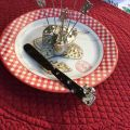 "Silvery metal butter knife spreader ""Mouse"""