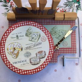 """Glass cheese board and utensils """"Maitre Fromager"""""""