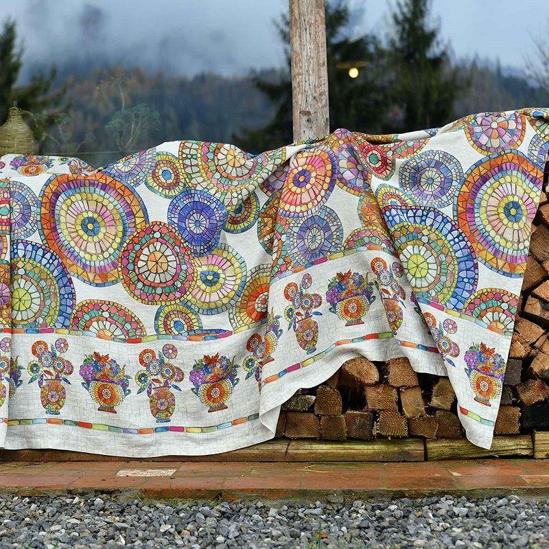 """Mezzero """"Monreale"""" grand foulard par Tessitura Toscana Telerie"""