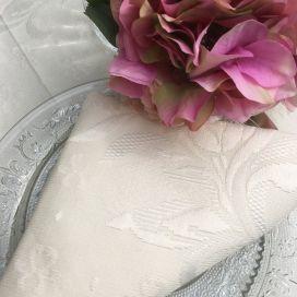 "Damasked Jacquard table napkin ""Delft"" Off White"
