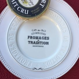 "Porcelain cheese plate ""Fromage de tradition"""