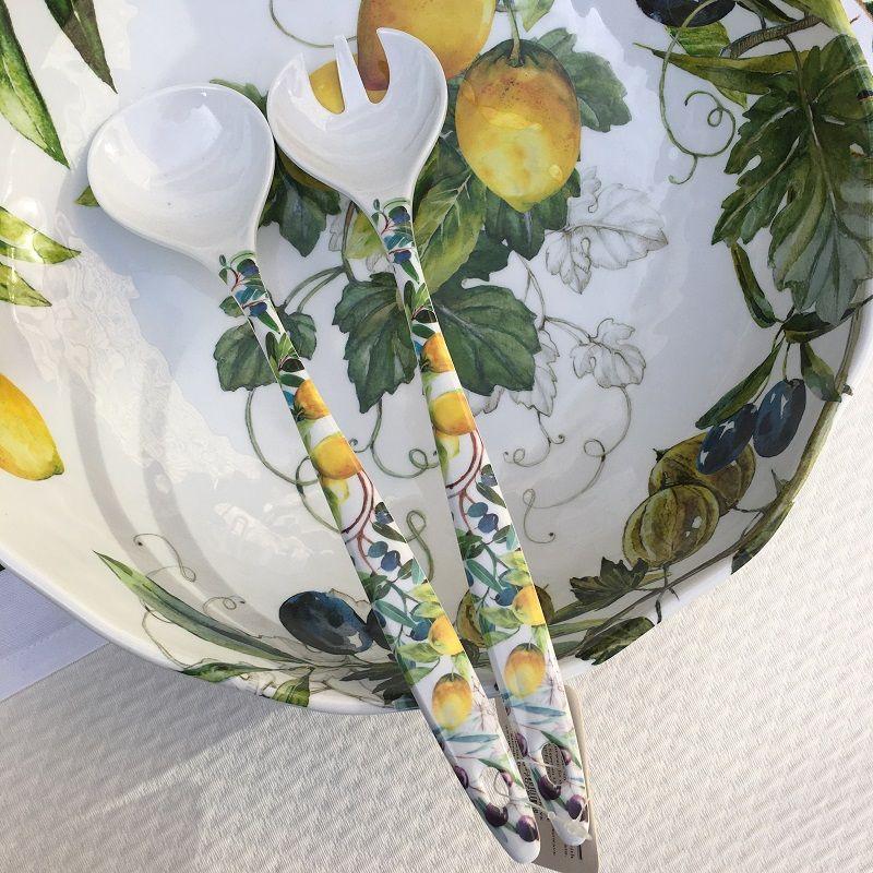 """Michel Design Works - """"Tuscan Grove"""" Melanine serving set"""