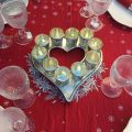 "Rectangular Jacquard tablecloth ""Savoie"" red, Tissus Toselli"