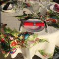 "Tessitura Toscana Telerie, square linen tablecloth ""Magic Tree"""