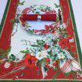 "Chemin de table en lin ""La Table au Noël"" Tessitura Toscana Telerie"