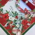 "Tessitura Toscana Telerie, chemin de table en lin ""La Table au Noël"""