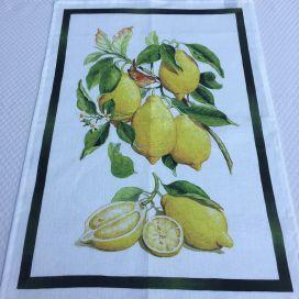 """Linen kitchen towel """"Limoncello"""" Tessitura Toscana Telerie"""
