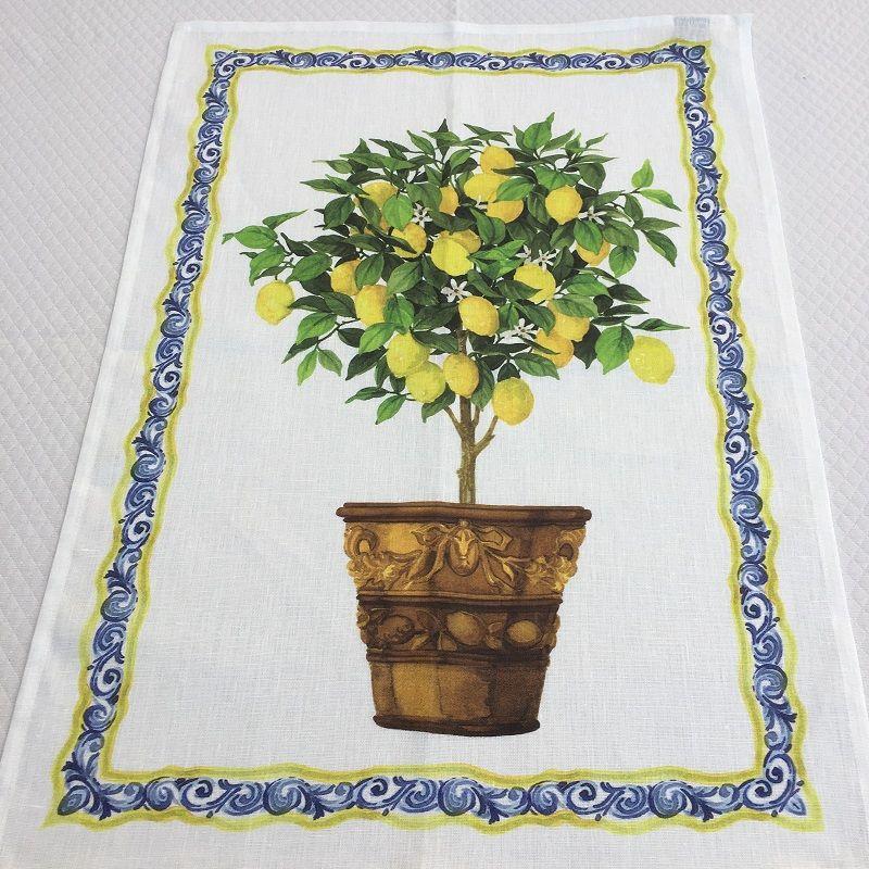 "Torchon en lin ""Limonaia"" Tessitura Toscana Telerie"