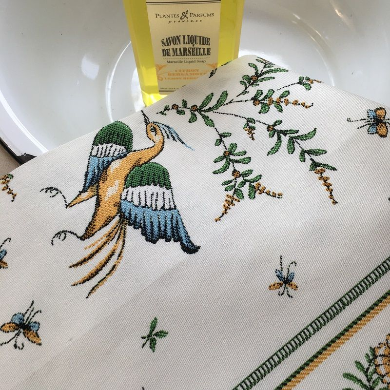 """Kitchen towel """"Moustiers"""" by Tissus Toselli"""