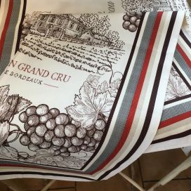 "Kitchen towel ""Bordeaux"" by Tissus Toselli"