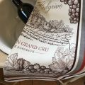 """Torchon de cuisine """"Bordeaux"""" Tissus Toselli"""