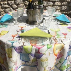 "Tessitura Toscana Telerie, rectangular linen tablecloth ""Crystal"""