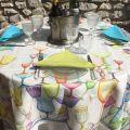 """Tessitura Toscana Telerie, nappe en lin  """"Crystal"""""""