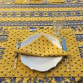 """Bordered quilted placemats """"Avignon"""" yellow and blue, by Marat d'Avignon"""