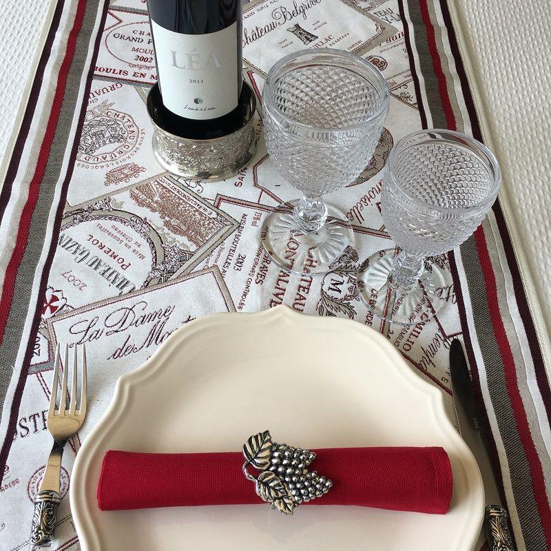 "Chemin de table Jacquard ""Bordeaux"" Tissus Tosseli"