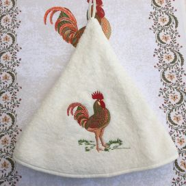"Embrodery round hand towel cock ""Lafayette"" ecru"