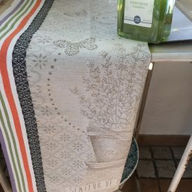 "Jacquard kitchen towel ""Le thym"" by Tissus Toselli"