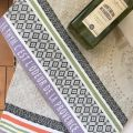 """Jacquard kitchen towel """"Le thym"""" by Tissus Toselli"""