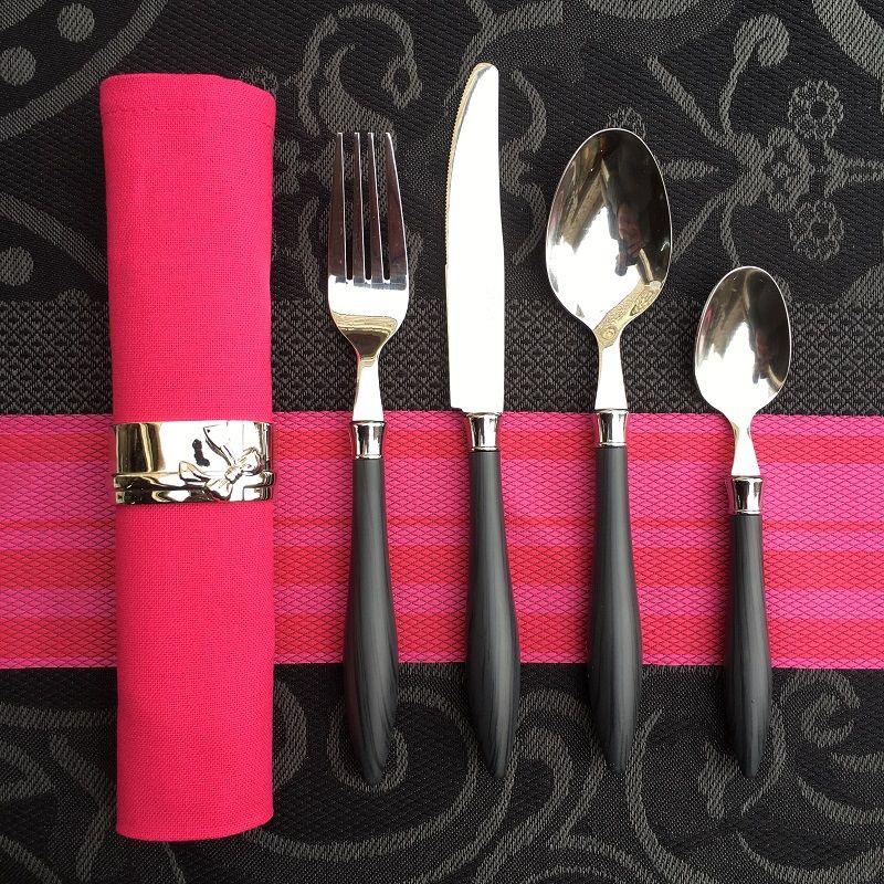 "Cutlery Set (48 pieces) ""Bocage"" dark grey, from ""Côté Table"""