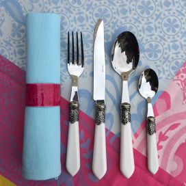 "Cutlery Set (48 pieces) ""Baroque"" white, from ""Côté Table"""