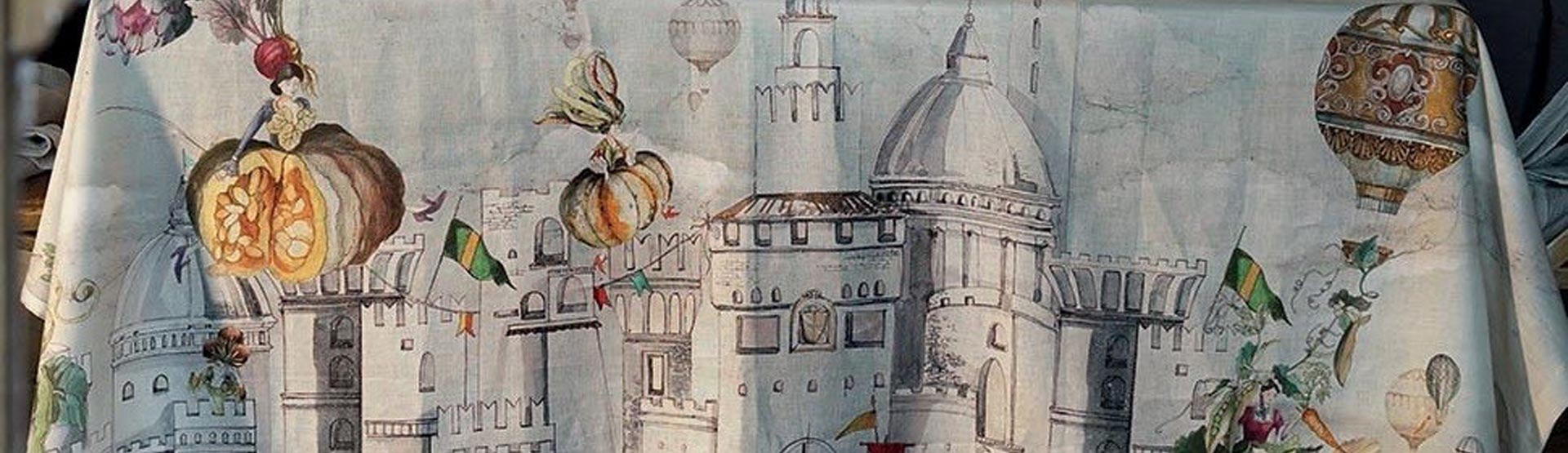 "Linen tablecloth ""Fiaba"" Tesseitura Toscana Telerie"